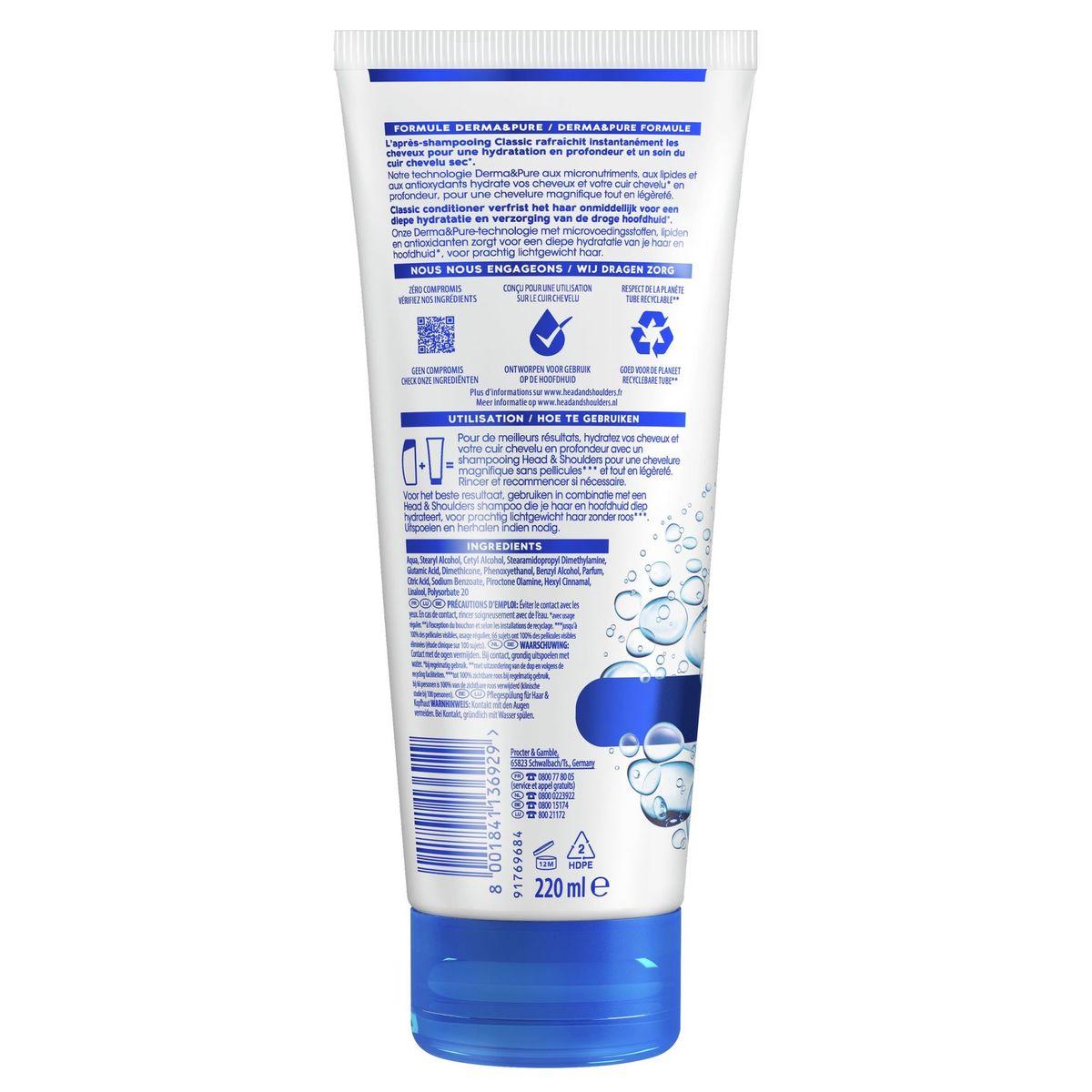 Head & Shoulders Classic Conditioner Voor Haar En Hoofdhuid 220ml
