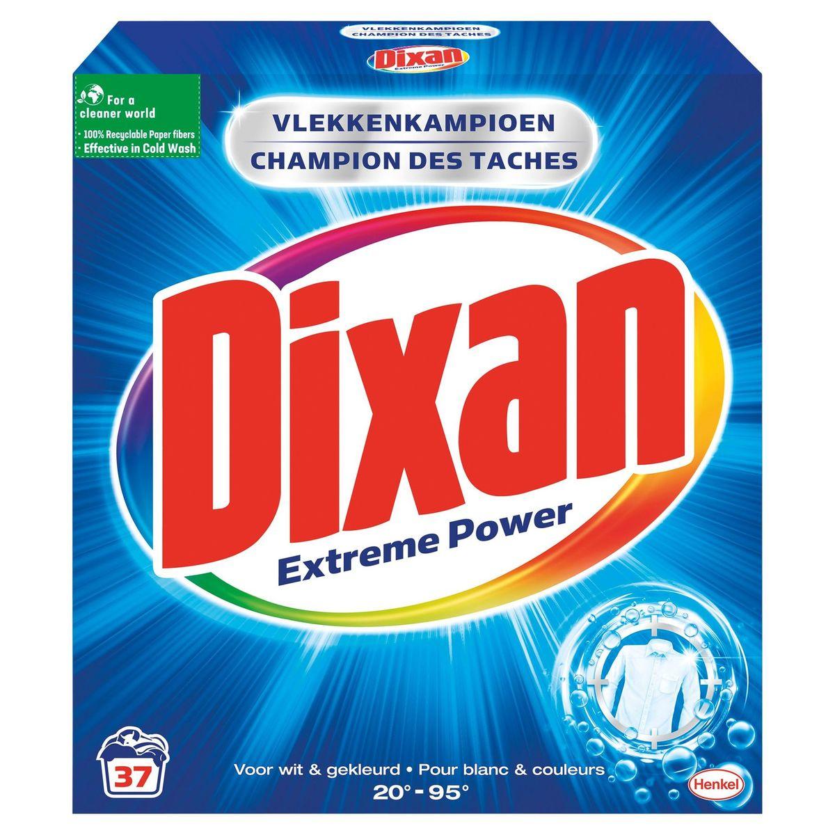 Dixan Lessive Poudre Extreme Power 37DS 2.22kg