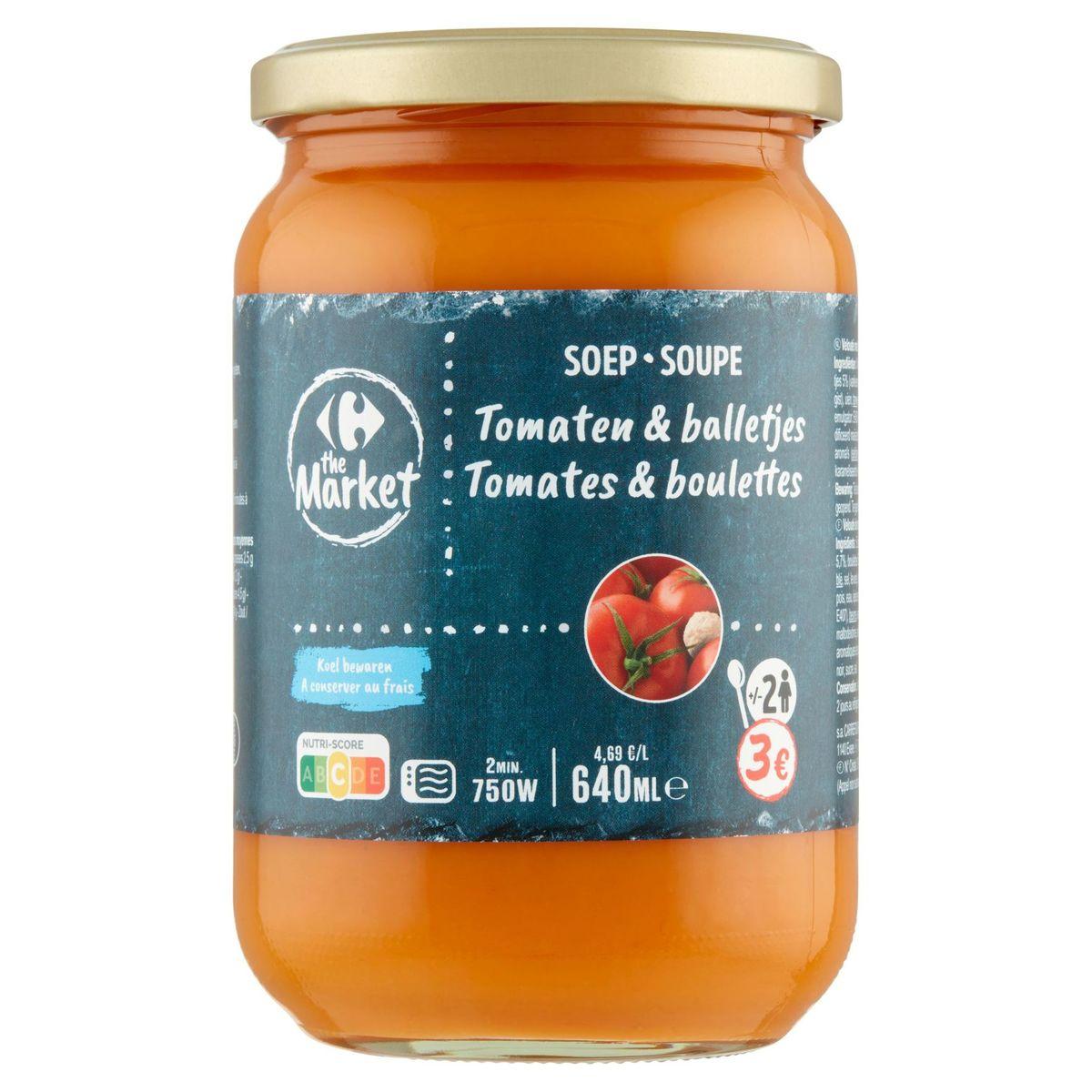 Carrefour Traiteur Gourmet Velouté Tomates & Boulettes 700 ml