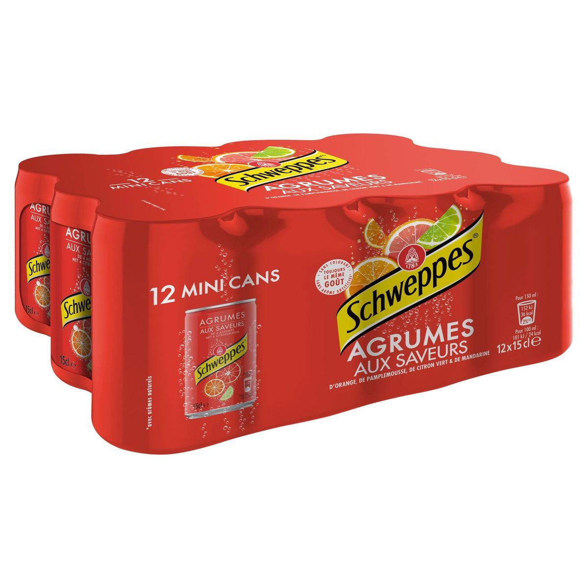 SCHWEPPES AGRUMES 12 x 15 cl