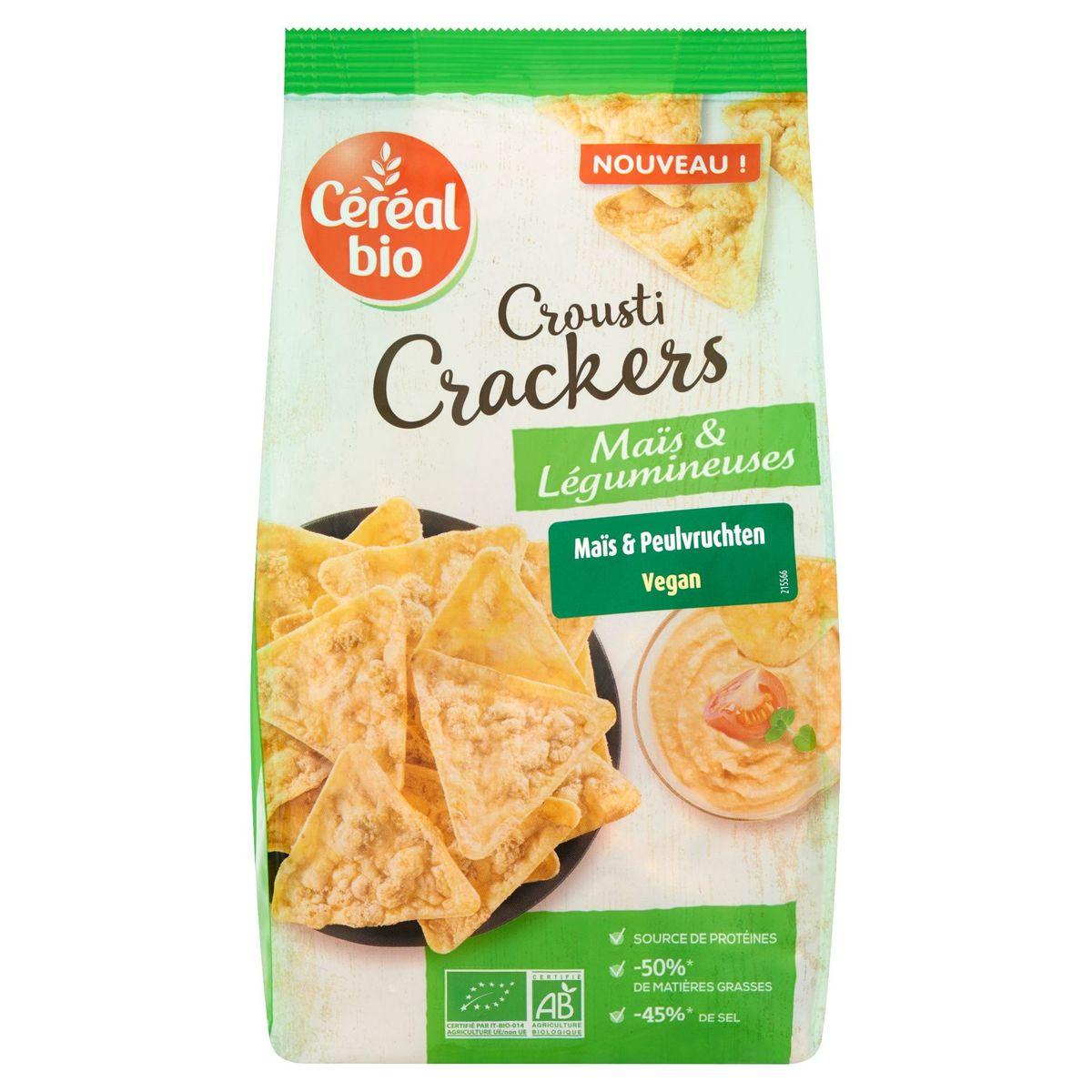 Céréal Bio Crousti Crackers Maïs & Légumineuses 80 g