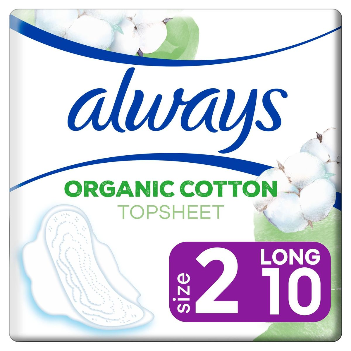 Always Cotton Protection Maat 2 Maandverband Met Vleugels 10 Stuks