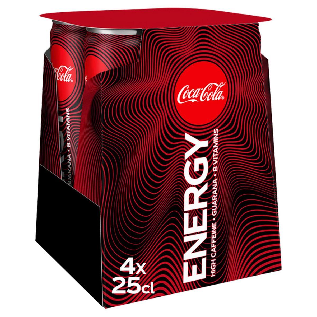 Coca-Cola Energy Canette 4x250ml