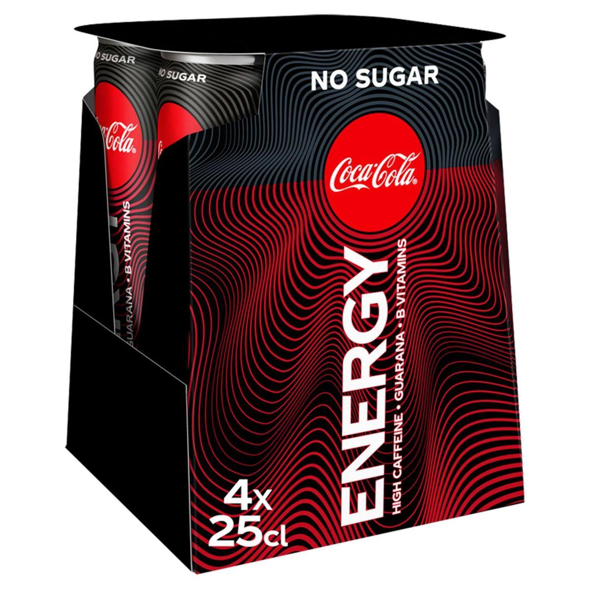 Coca-Cola Energy No Sugar Canette 4x250ml