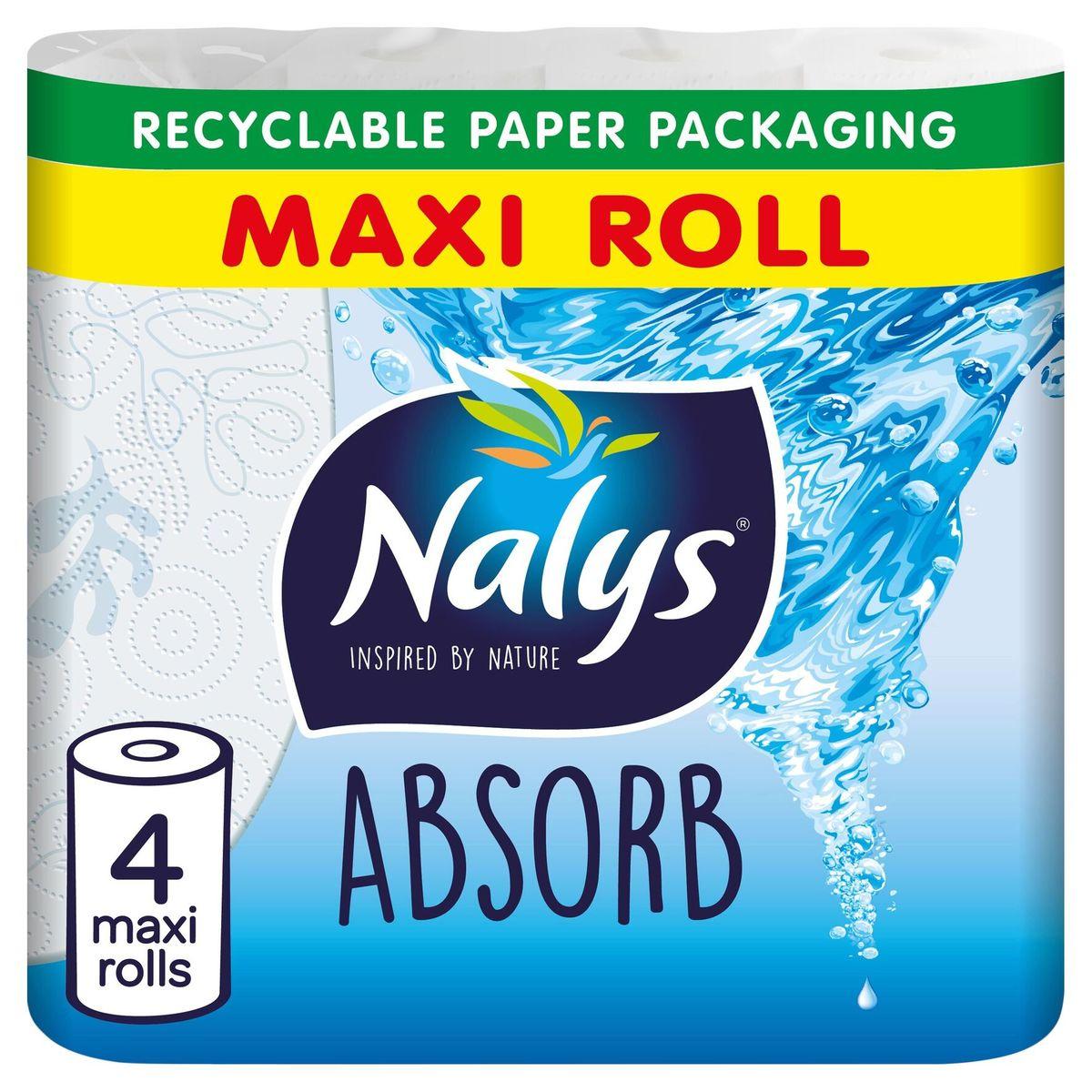 Nalys Absorb Essuie-tout 4 Maxi Rouleaux