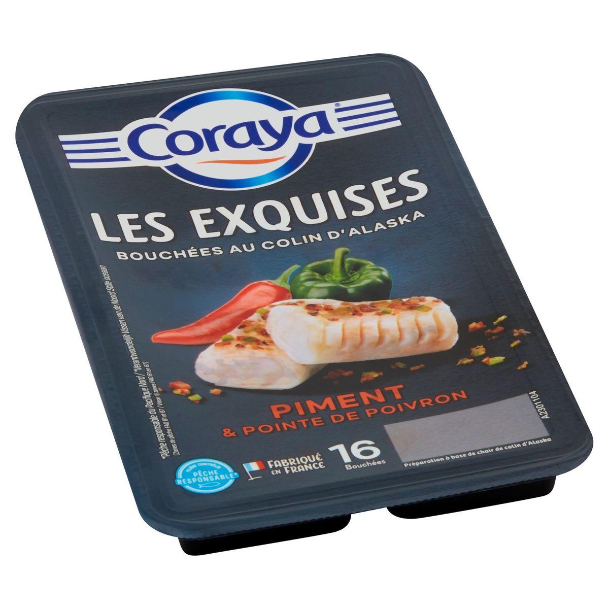 Coraya Les Exquises Bouchées au Colin d'Alaska 16 Pièces 172 g