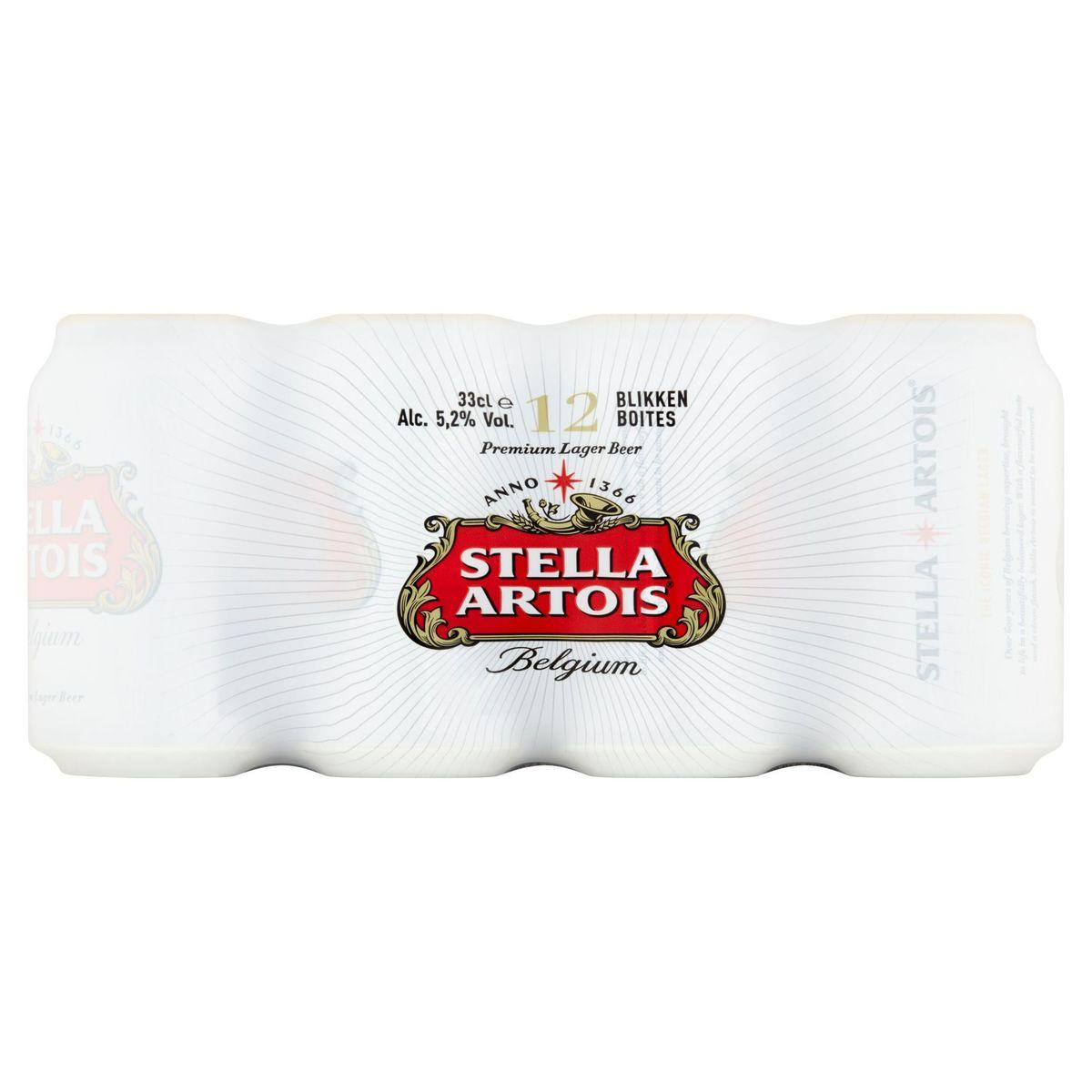 Stella Artois Belgium Premium Lager Beer Blikken 12 x 33 cl