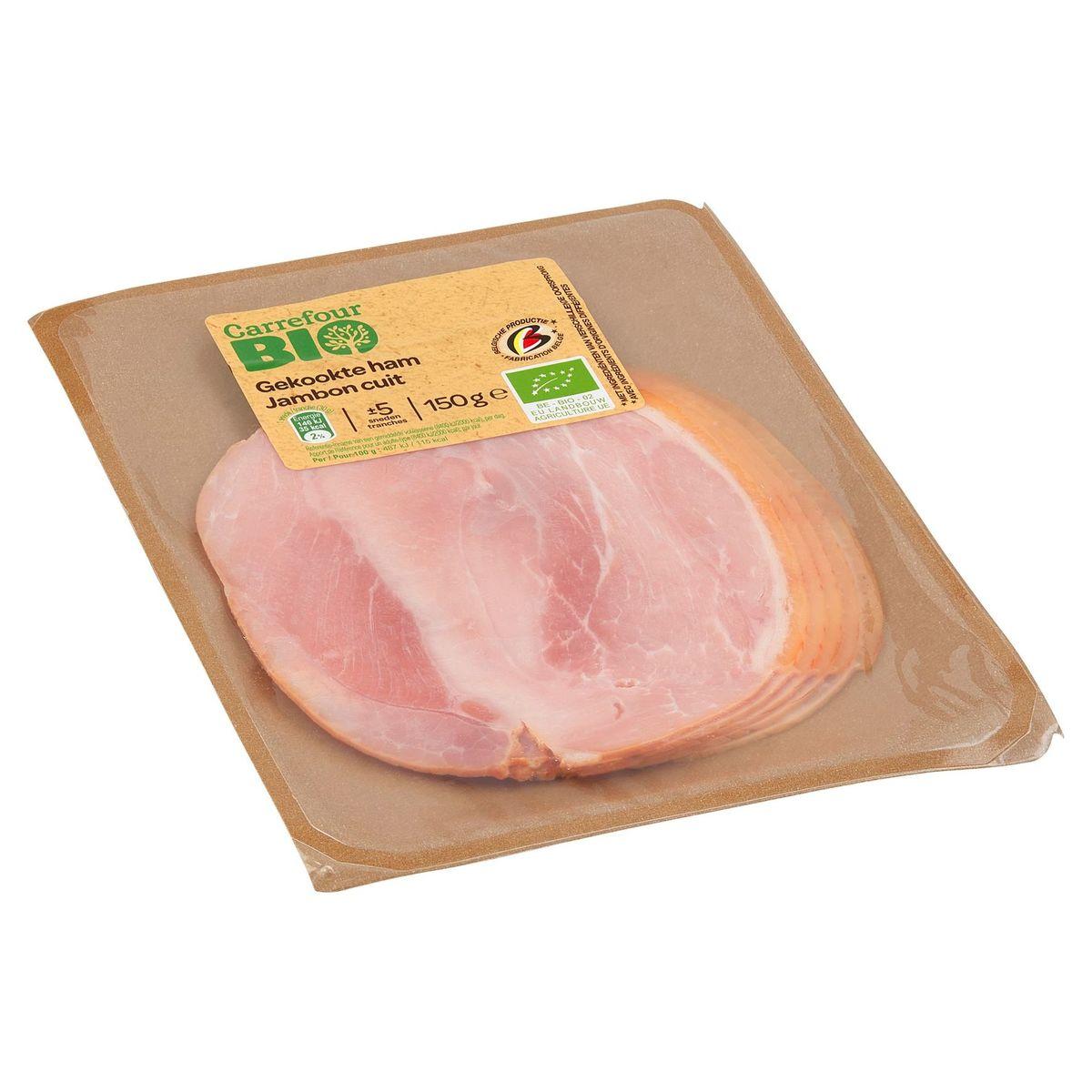 Carrefour Bio Jambon Cuit 150 g