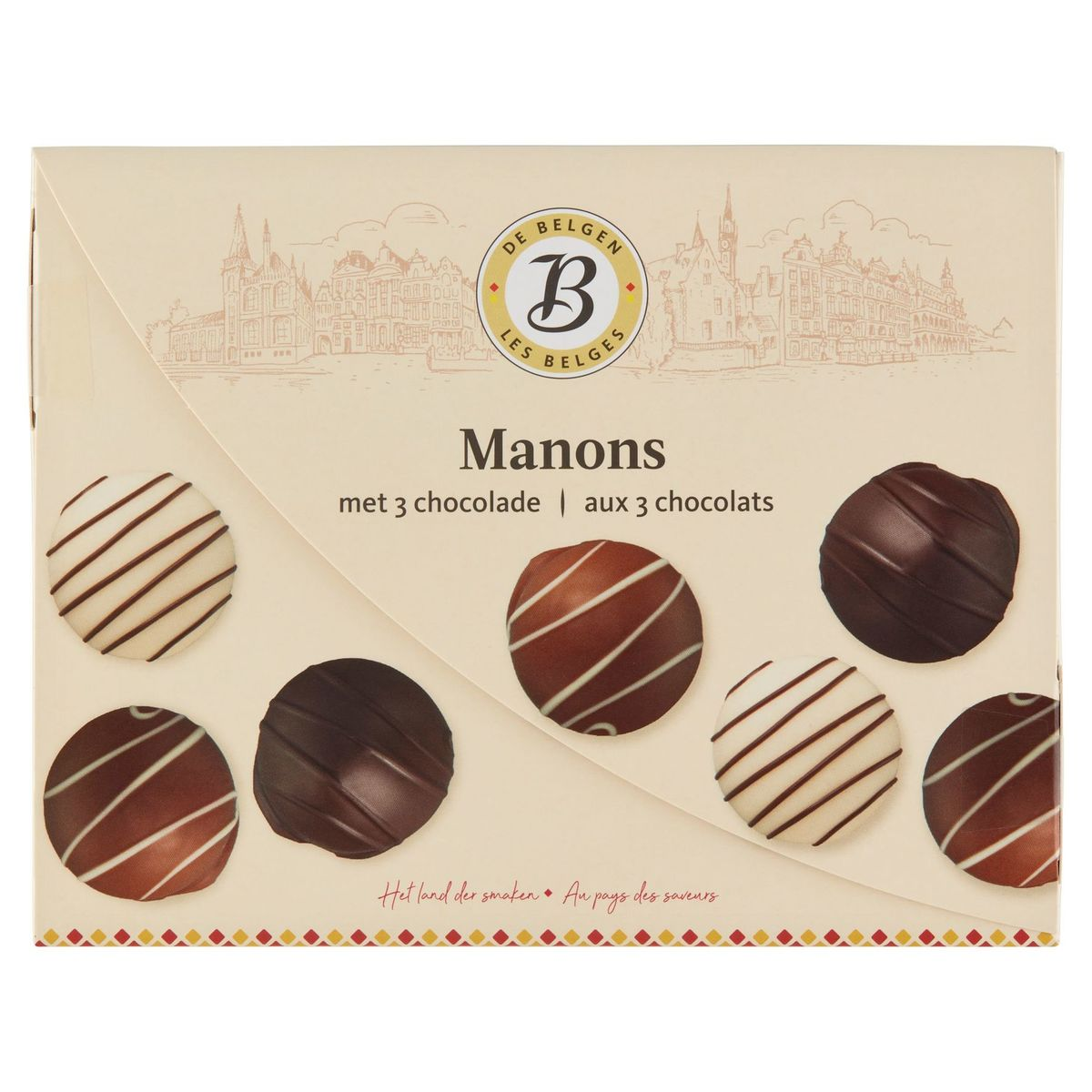 Les Belges Manons aux 3 Chocolats 12 Pièces 180 g