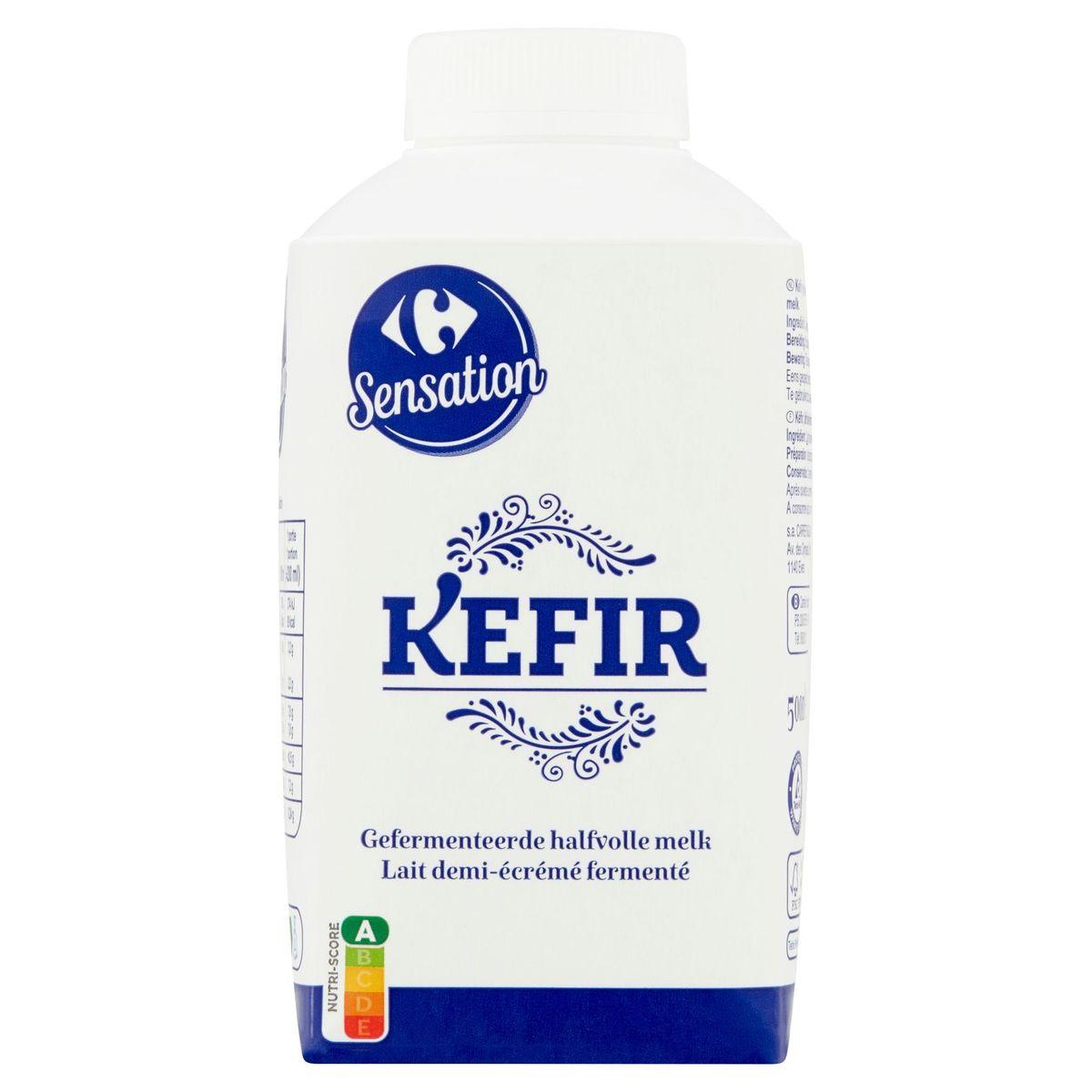 Carrefour Sensation Kefir Lait Demi-Écrémé Fermenté 500 ml