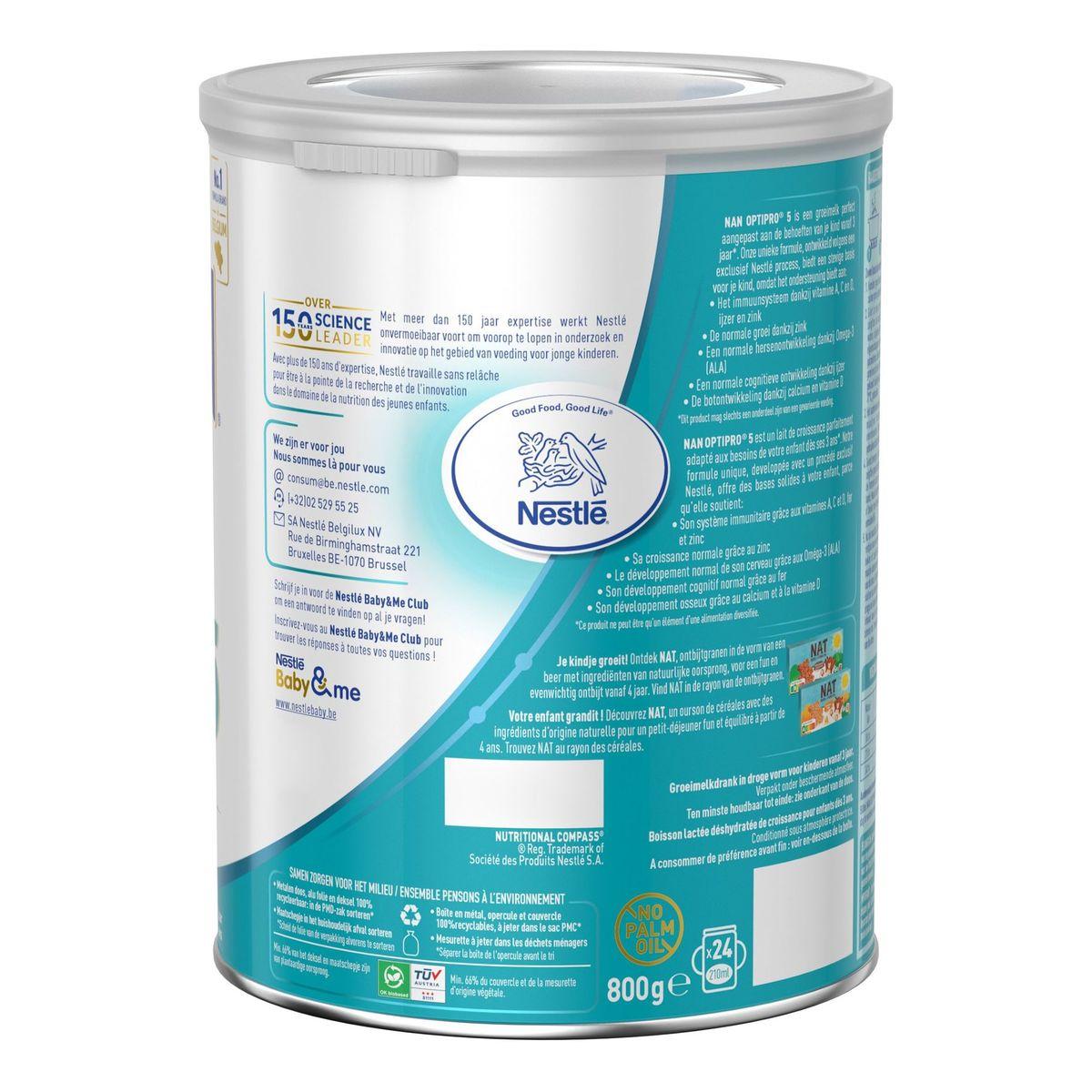 NAN Optipro 5 Lait de Croissance 800g