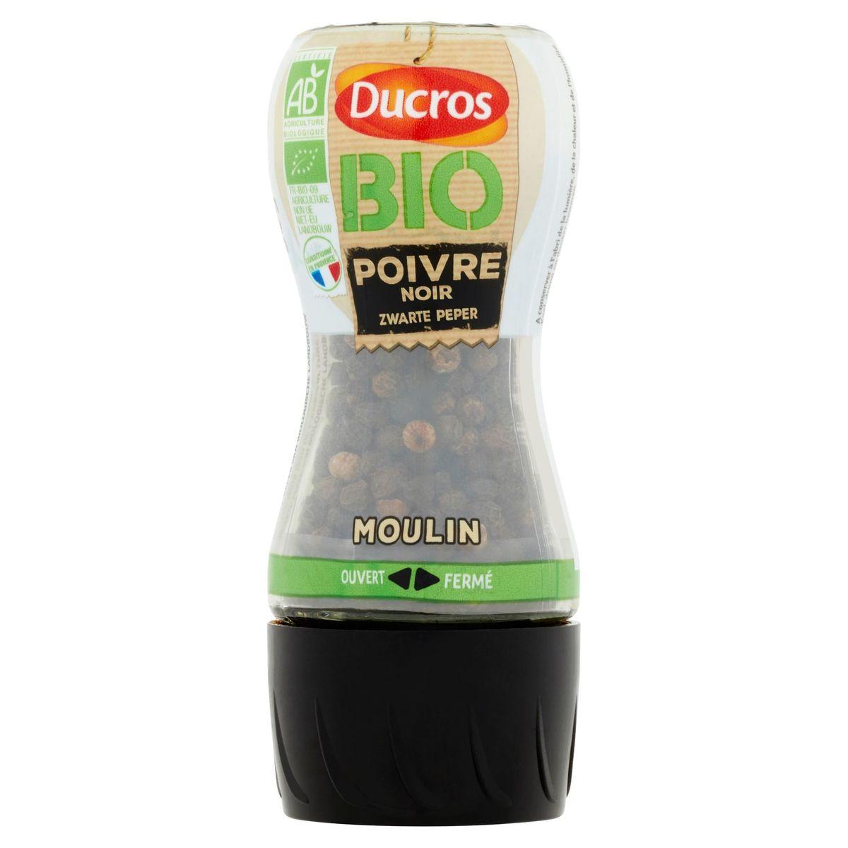 Ducros Bio Zwarte Peper Moulin 30 g