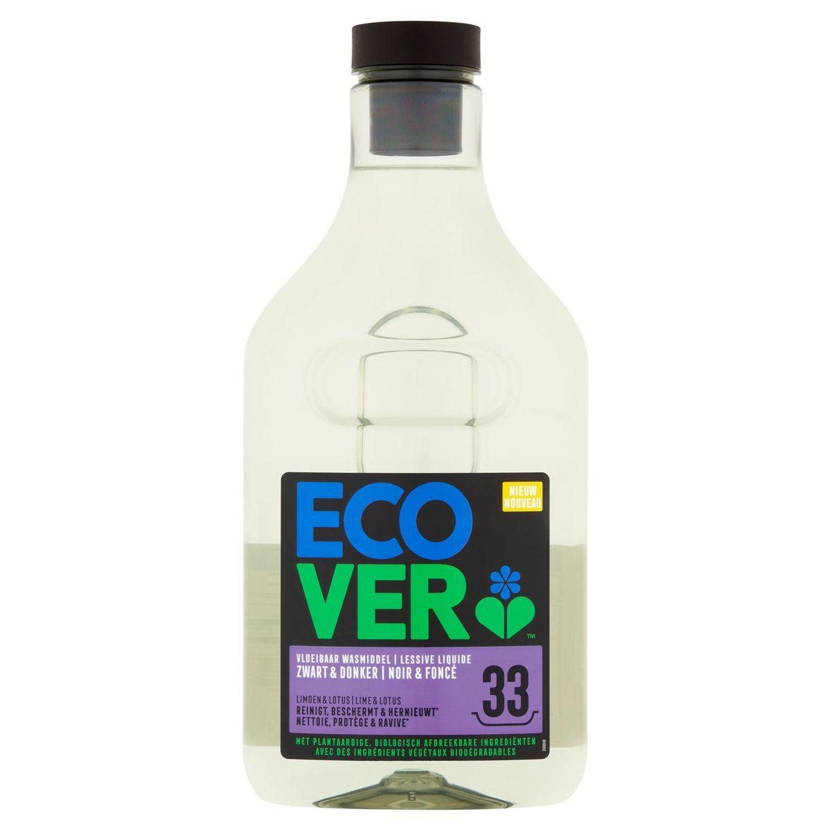 Ecover Lessive Liquide Noir & Foncé 33 Lavages 1.5 L