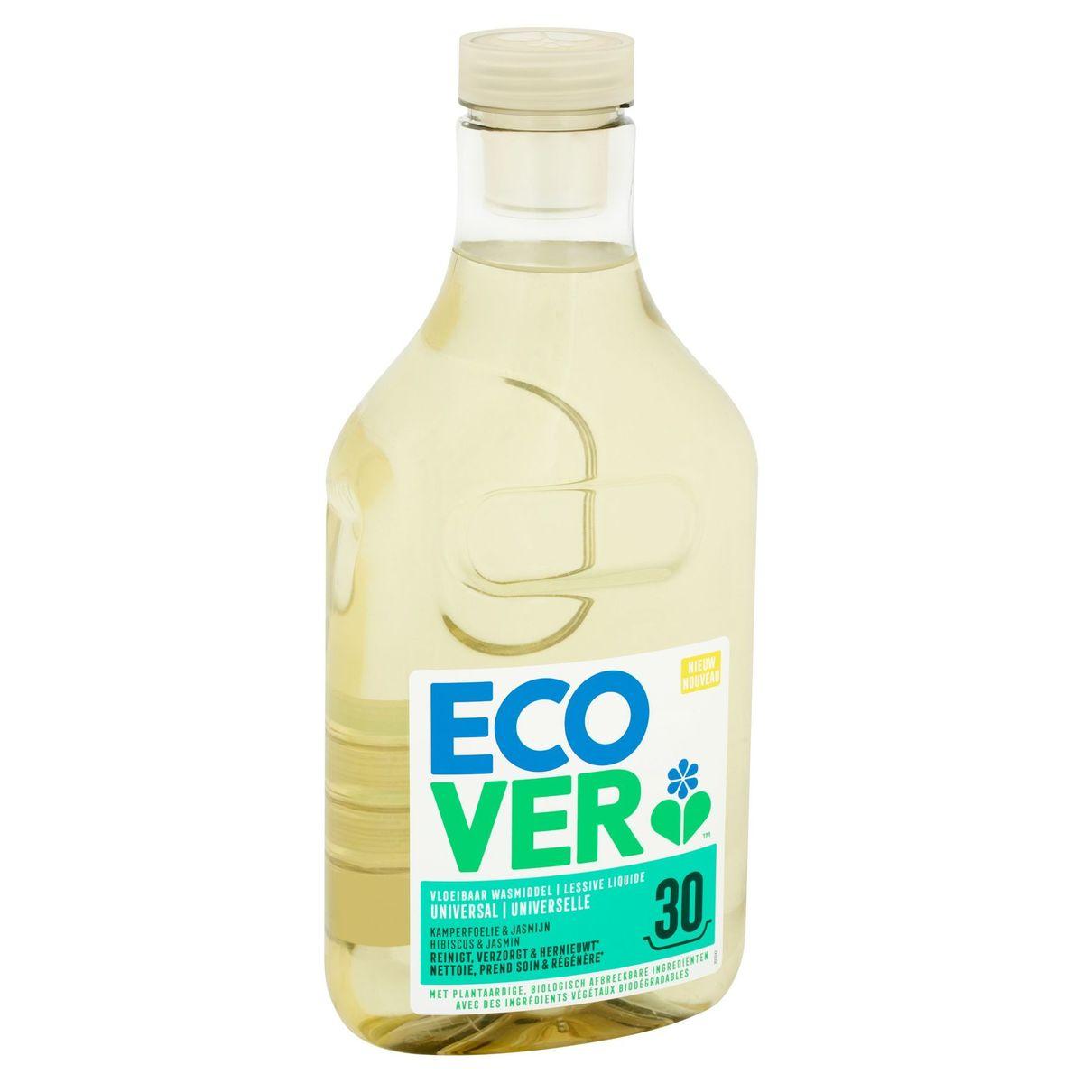 Ecover Lessive Liquide Universelle Hibiscus & Jasmin 30 Lavages 1.5 L