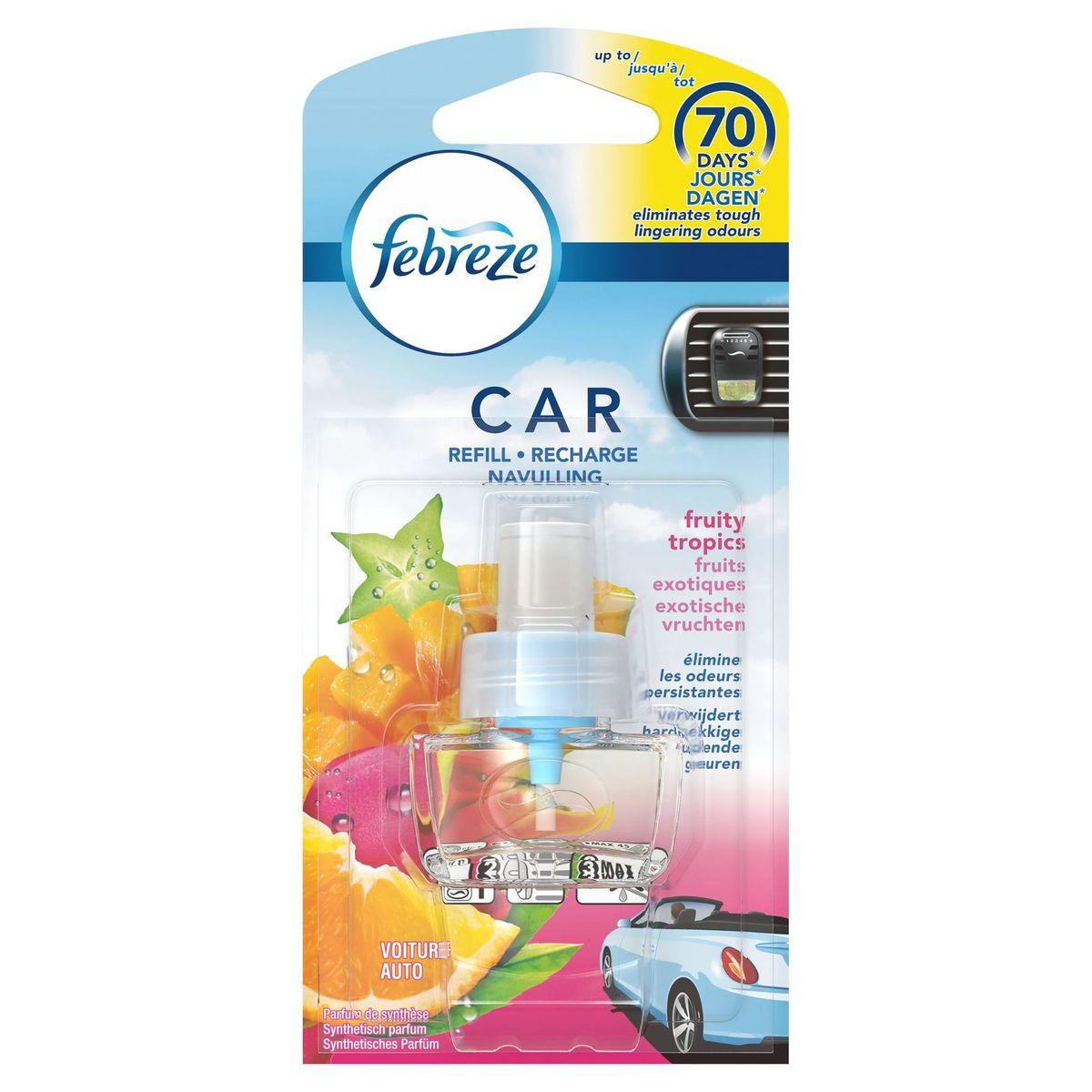 Febreze Auto Exotische Vruchten Luchtverfrisser Navulling 7 ml