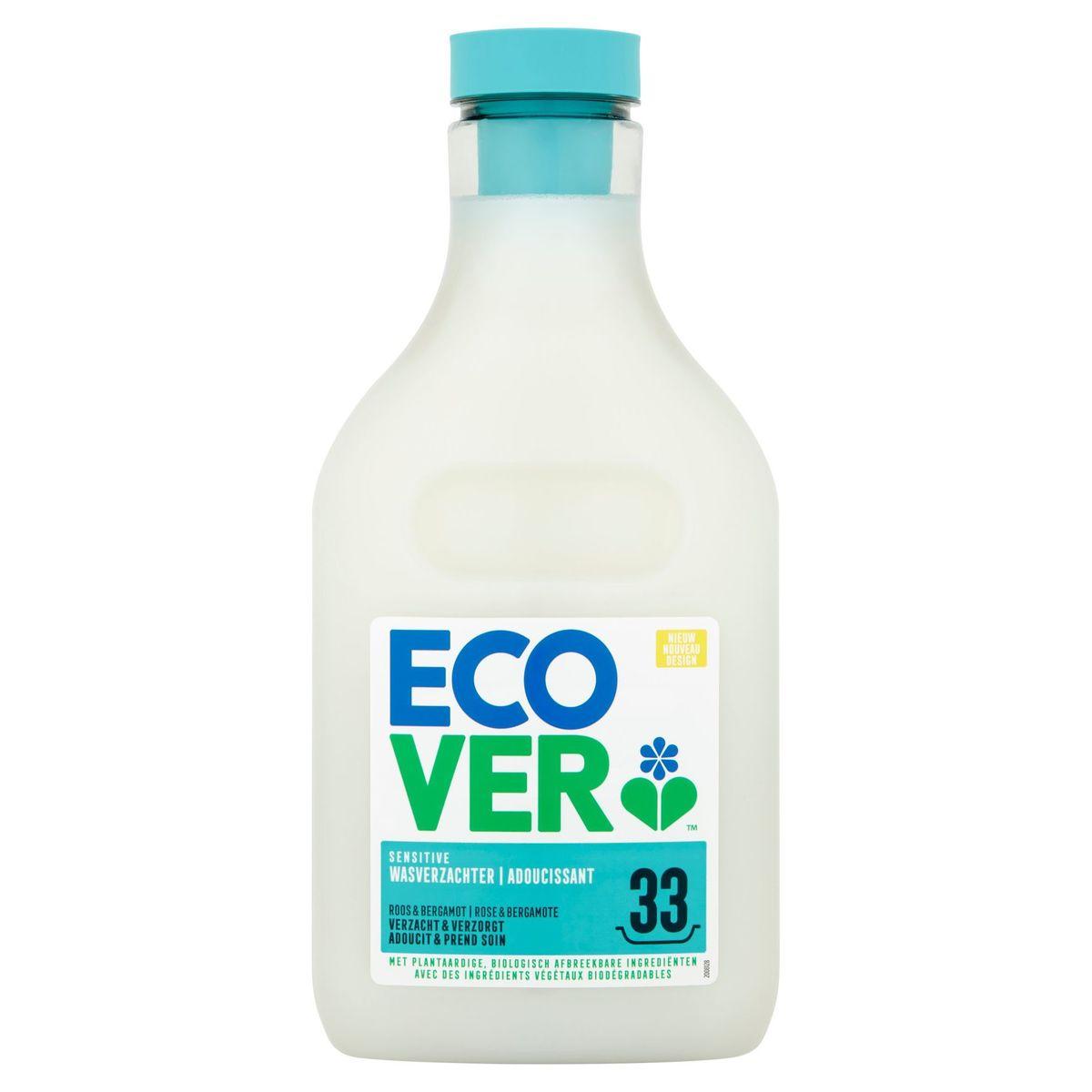 Ecover Sensitive Adoucissant Rose & Bergamote 33 Lavages 1 L