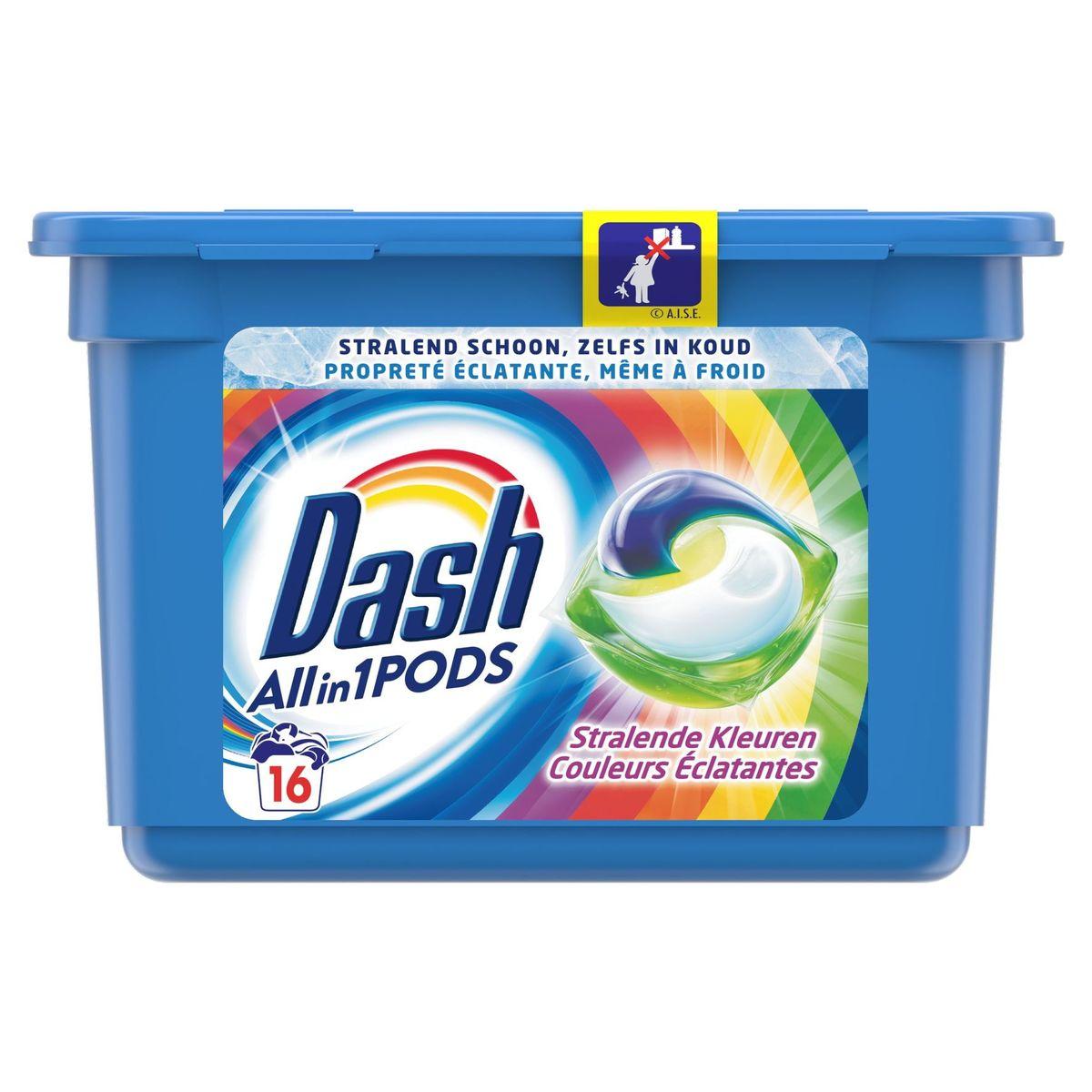 Dash Allin1 Kleur Wascapsules Pods 16 Wasbeurten