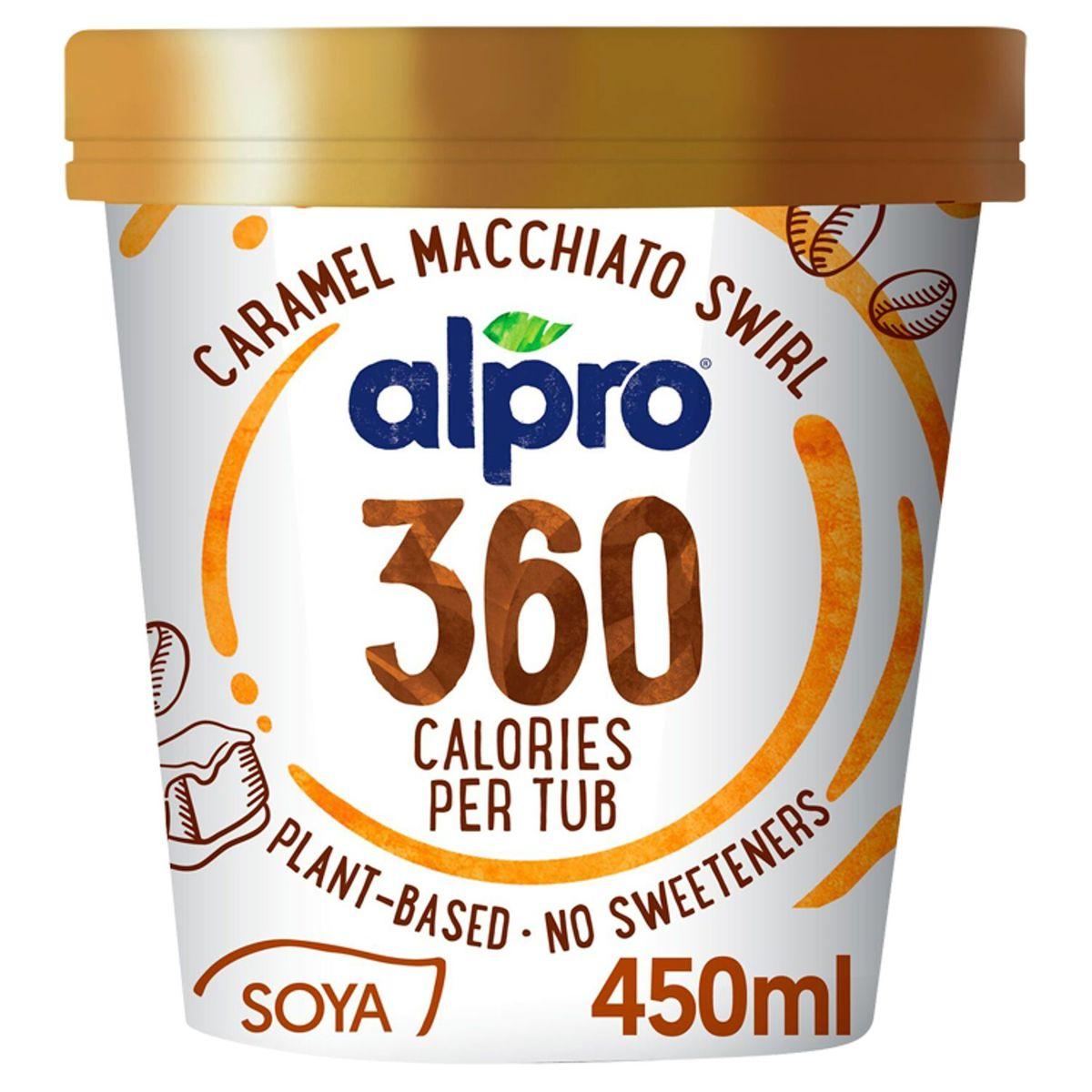Alpro 360 Kcal Glace aux Tourbillons de Caramel-Macchiato 450 ml