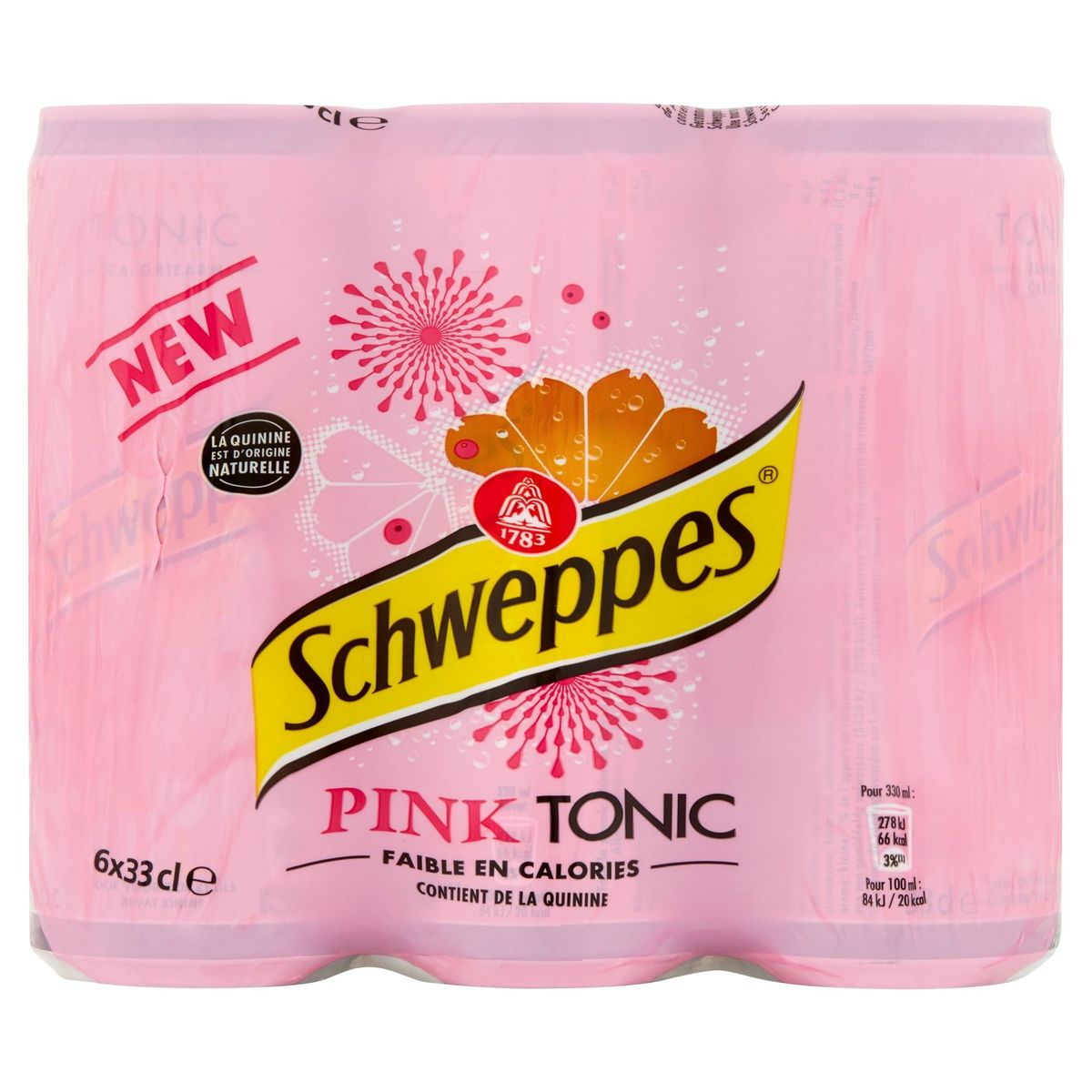 Schweppes Pink Tonic 6 x 33 cl
