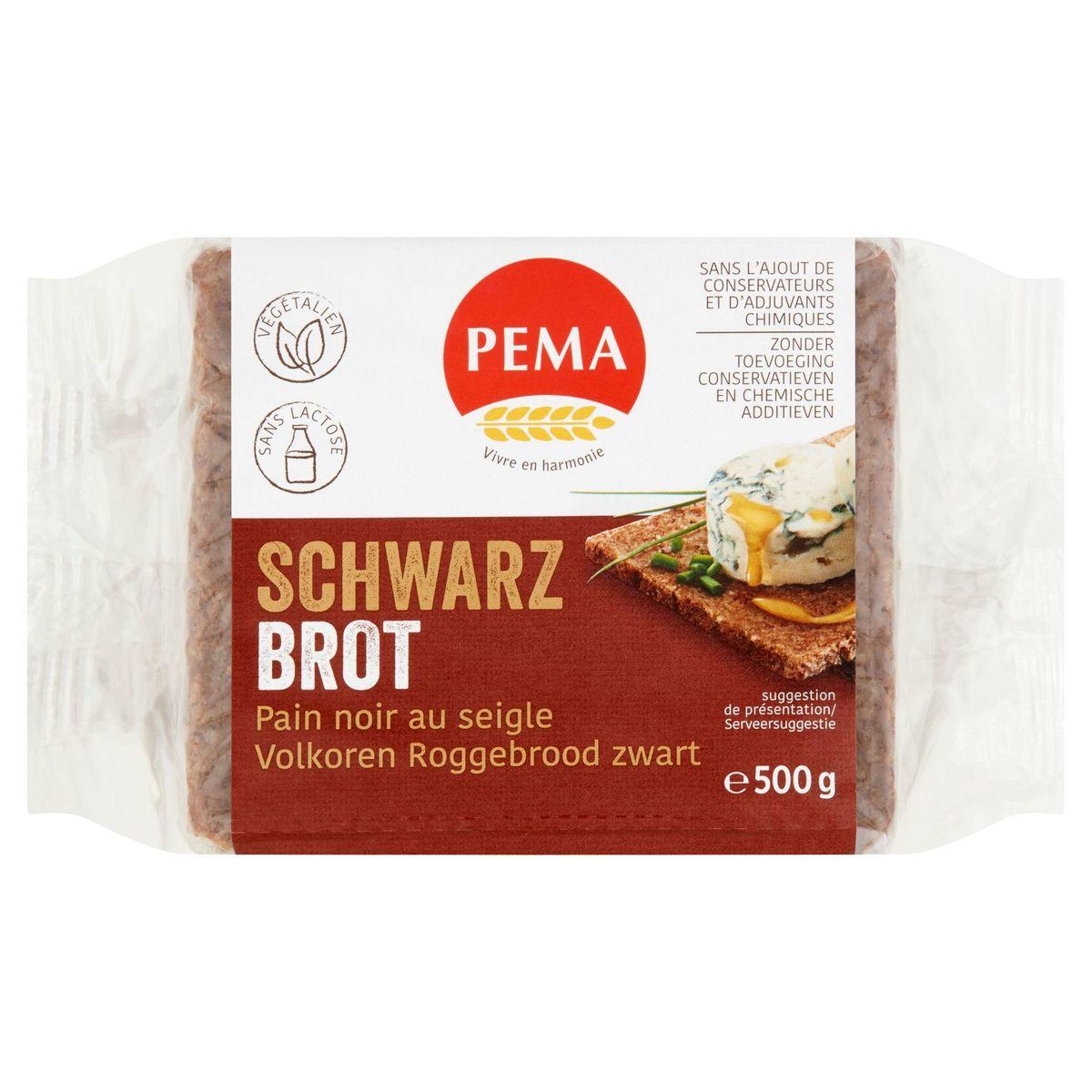 Pema Brot Volkoren Roggebrood Zwart 500 g