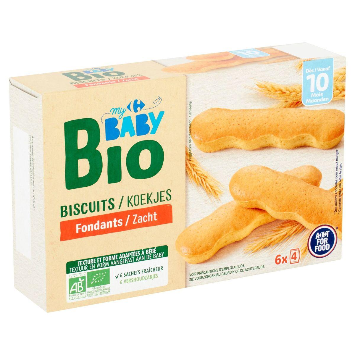 Carrefour Baby Bio Biscuits Fondants dès 10 Mois 120 g