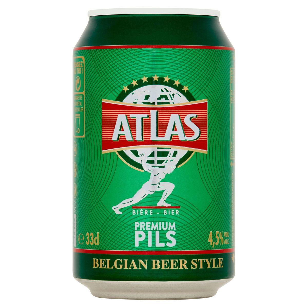 Atlas Bier Premium Pils Blik 33 cl