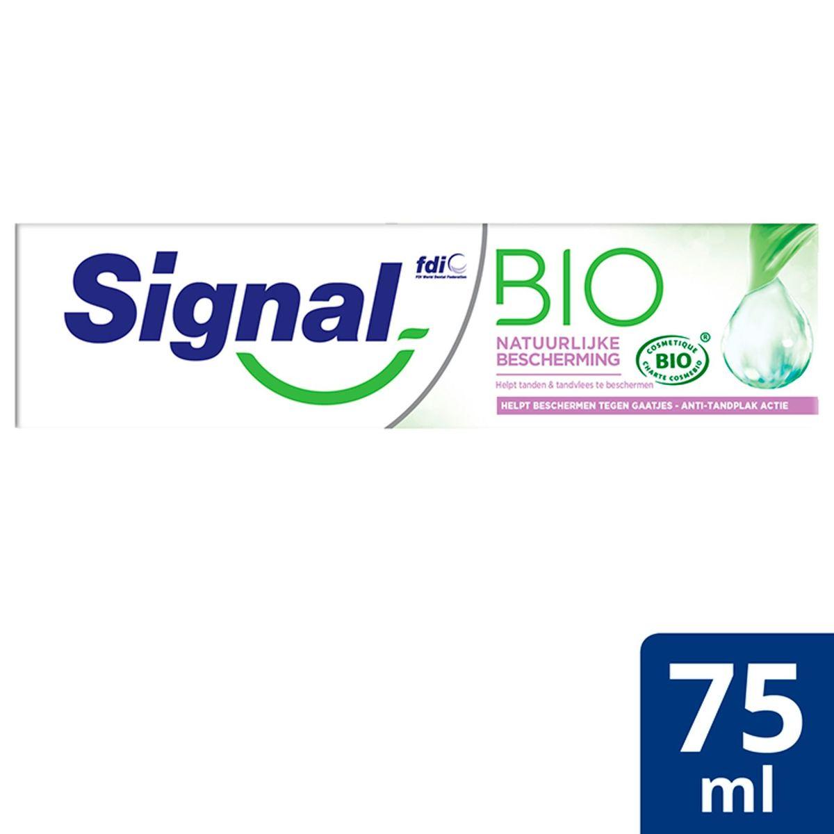 Signal Bio Dentifrice Protection Naturelle 75 ml