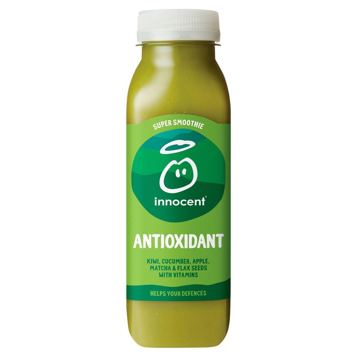 Innocent Super Smoothie Antioxidant Kiwi, Cucumber, Apple, Matcha & Flax Seeds with Vitamins 300 ml