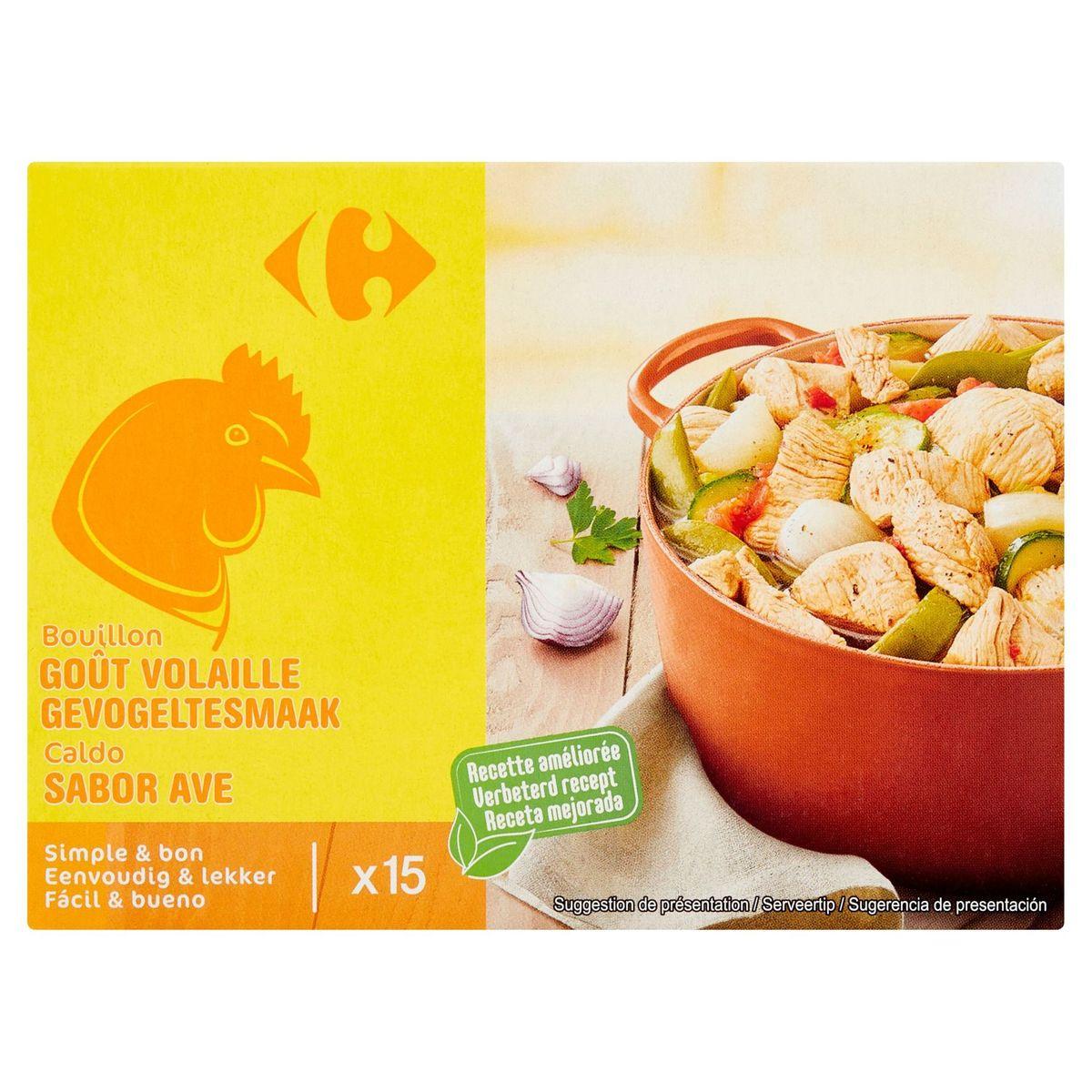 Carrefour Bouillon Goût Volaille 15 x 10 g