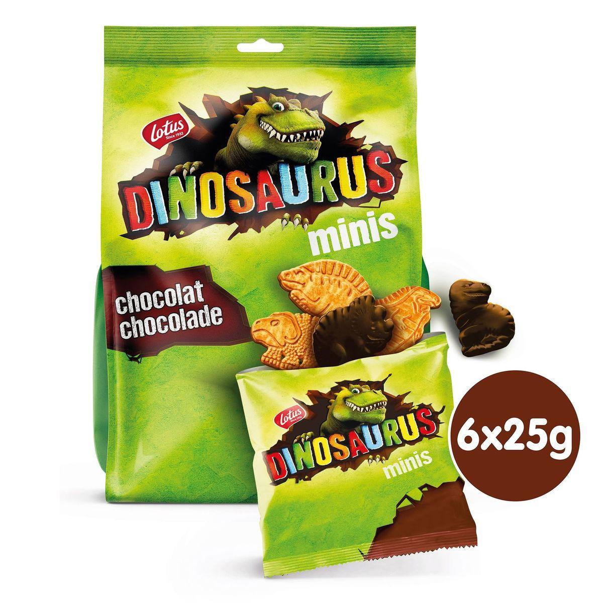Lotus Dinosaurus Chocolat Minis 6 x 25 g
