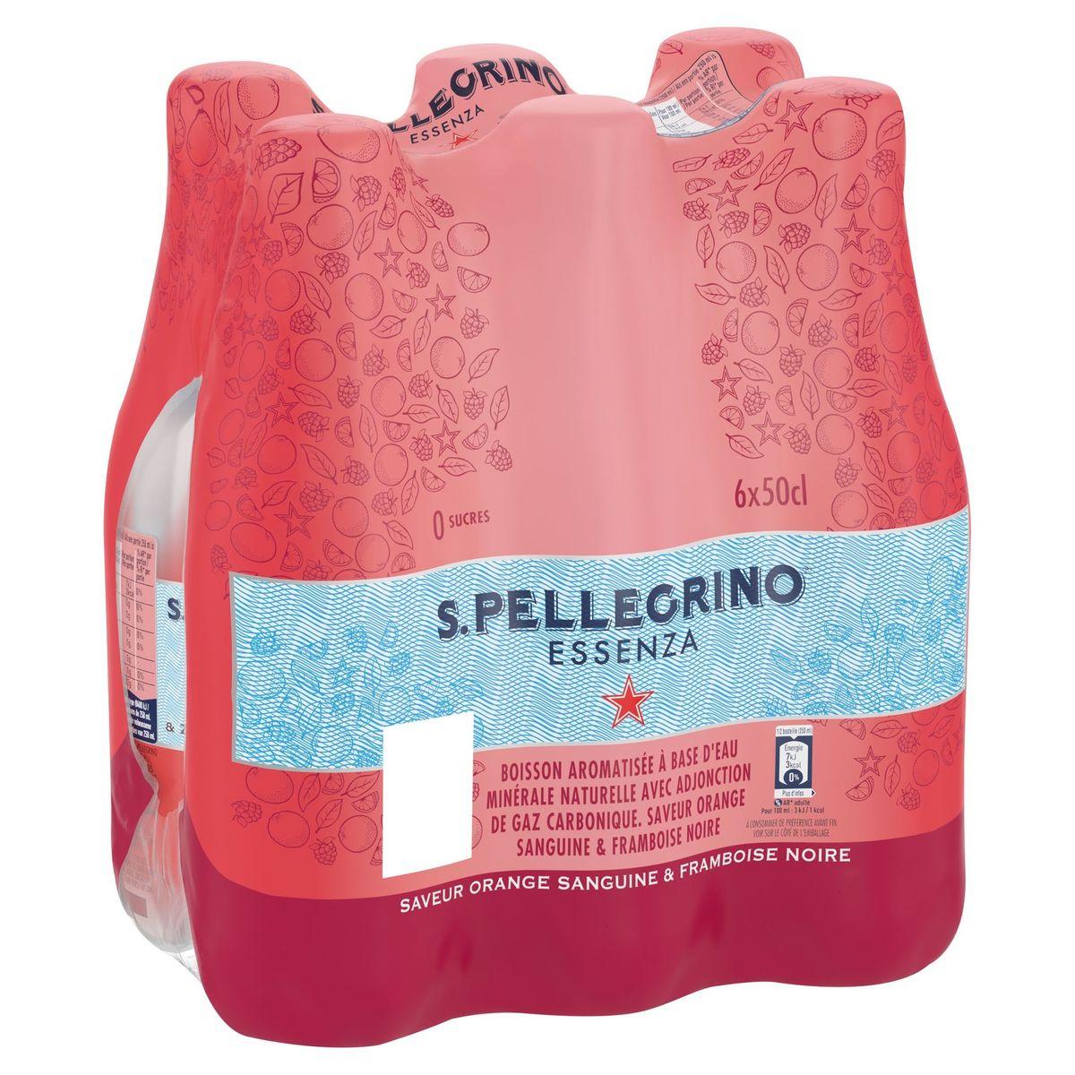 S.PELLEGRINO® Essenza Bloedsinaasappel & Framboos PET 6 x 50 cl