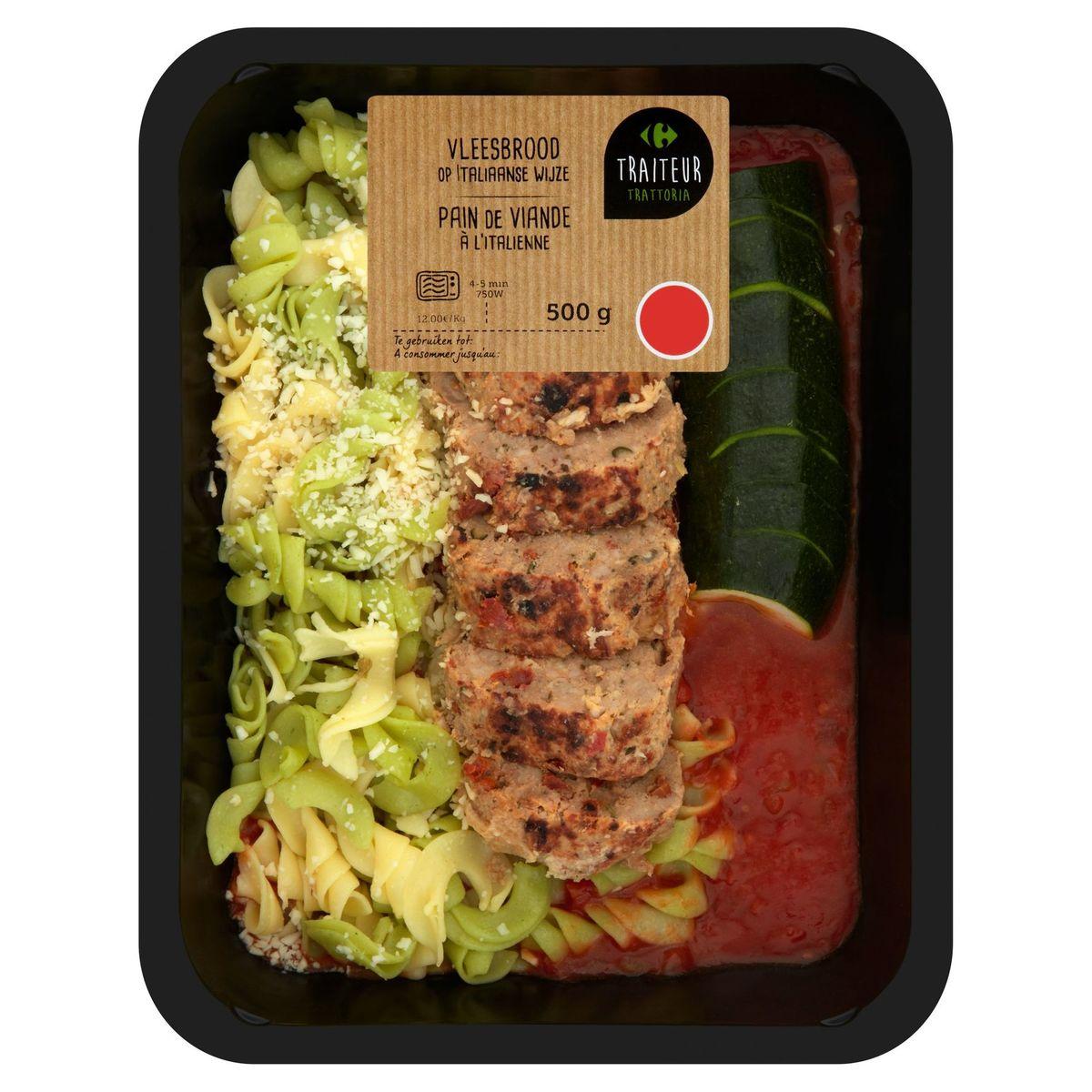 Carrefour Traiteur Trattoria Pain de Viande à l'Italienne 500 g