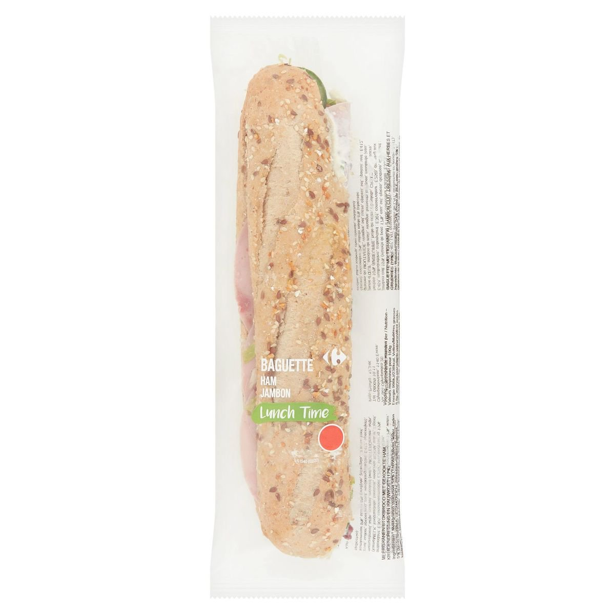 Carrefour Lunch Time Baguette Jambon 245 g