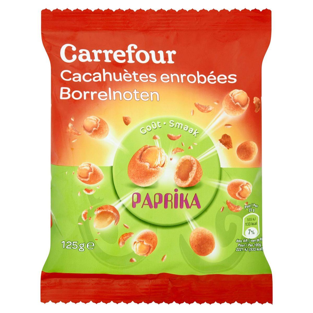 Carrefour Cacahuètes Enrobées Goût Paprika 125 g