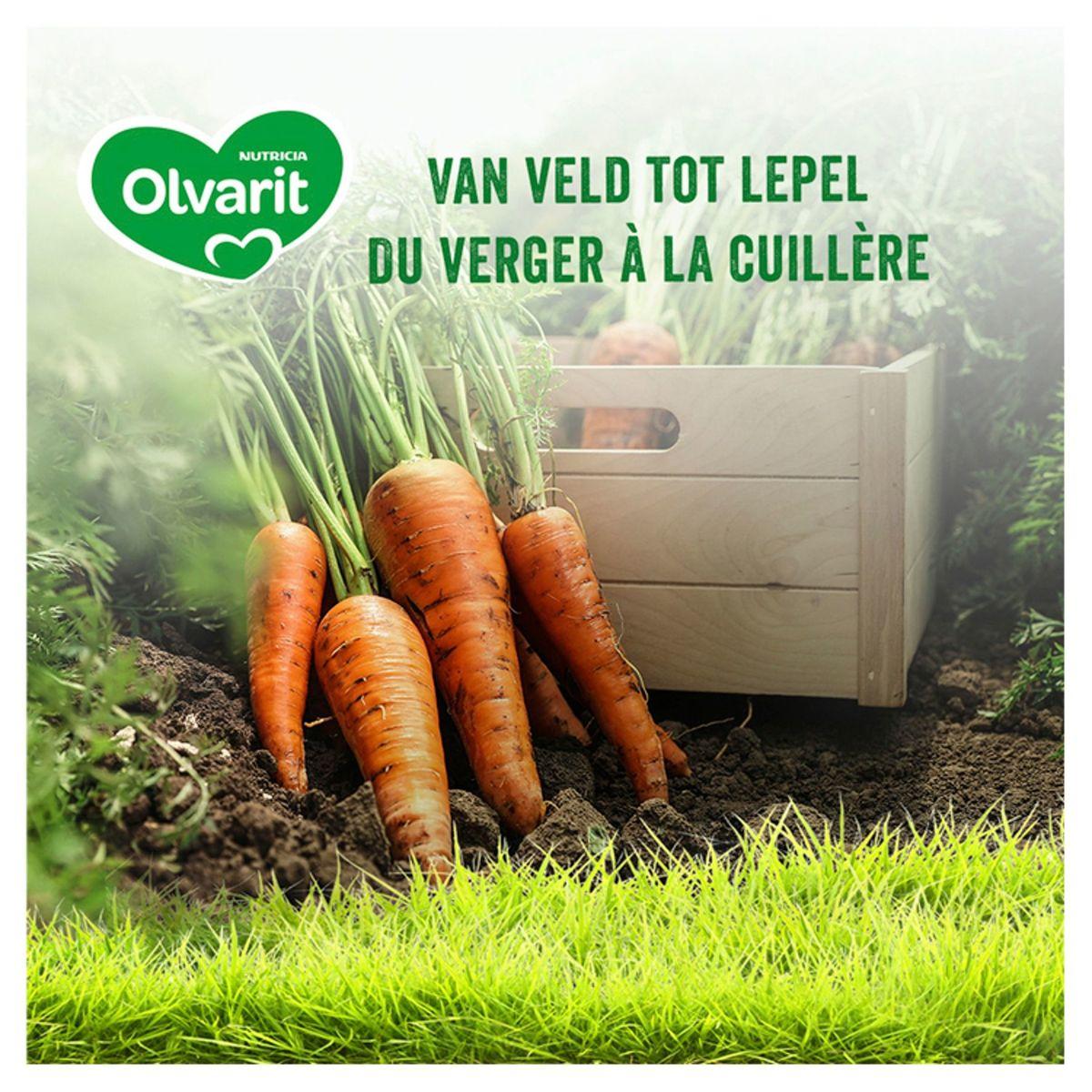 Olvarit Bio petit pot repas bébé - carotte, petits pois, poulet et pommes de terre 6 mois 2 x 200 g