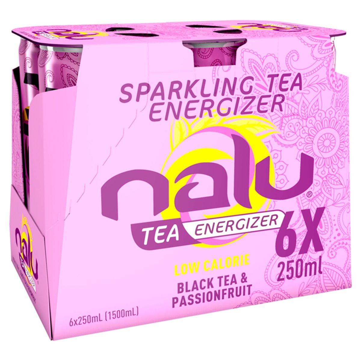 Nalu Black Tea & Passionfruit Slimcan 6 x 25 cl