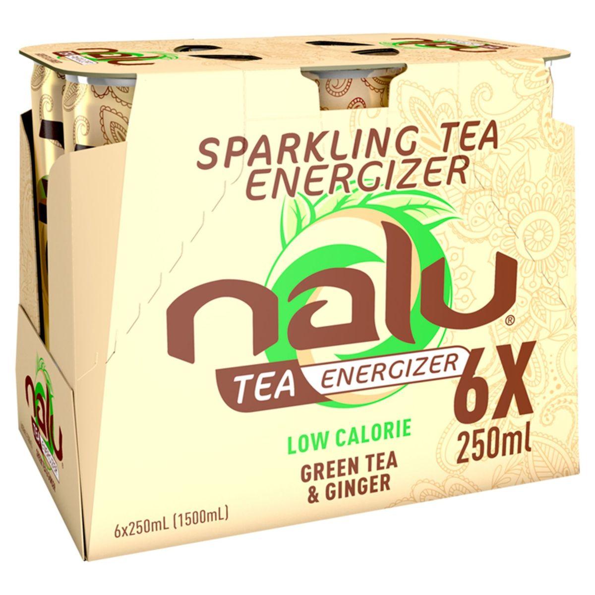 Nalu Green Tea & Ginger Slimcan 6 x 25 cl