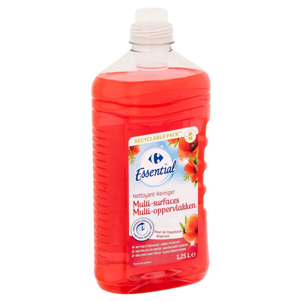 Carrefour Essential Reiniger Multi-Oppervlakken Klaproos 1.25 L