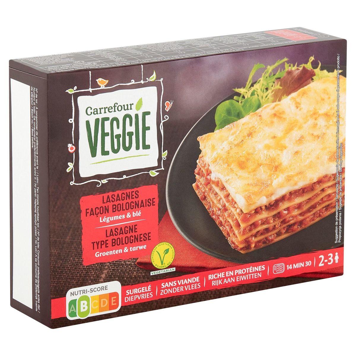 Carrefour Veggie Lasagne Type Bolognese Groenten & Tarwe 600 g
