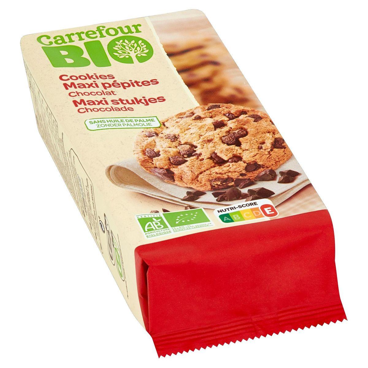 Carrefour Bio Cookies Maxi Stukjes Chocolade 184 g