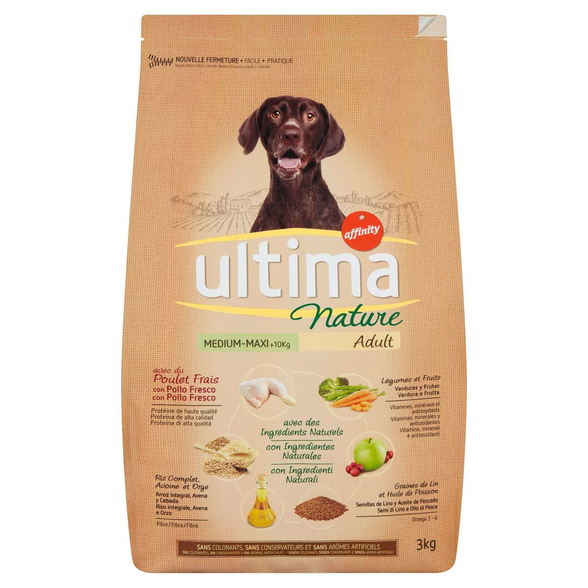 Ultima Nature Medium-Maxi +10 Kg Adult 3 kg