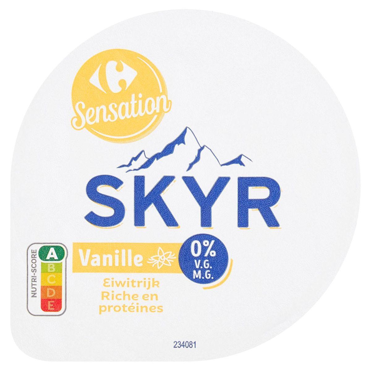 Carrefour Sensation Skyr Vanille 0% V.G. 150 g
