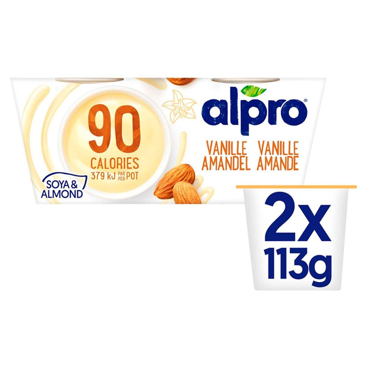Alpro 90 Kcal Vanille-Amandel Dessert 2 x 113 g
