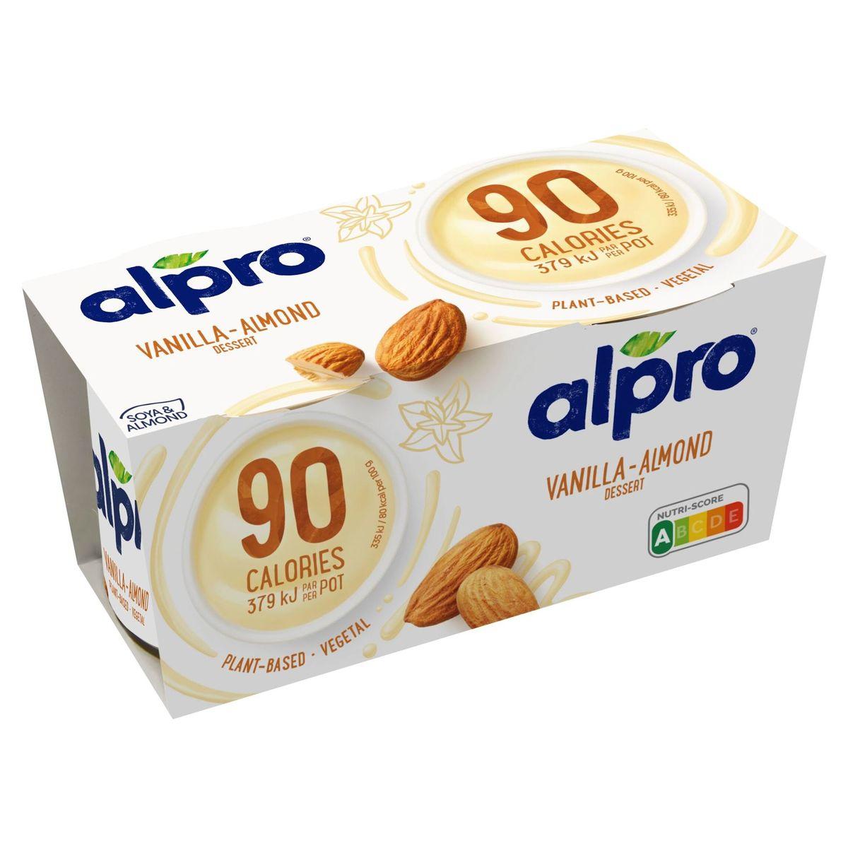 Alpro 90 Kcal Dessert Vanille - Amande 2 x 113 g