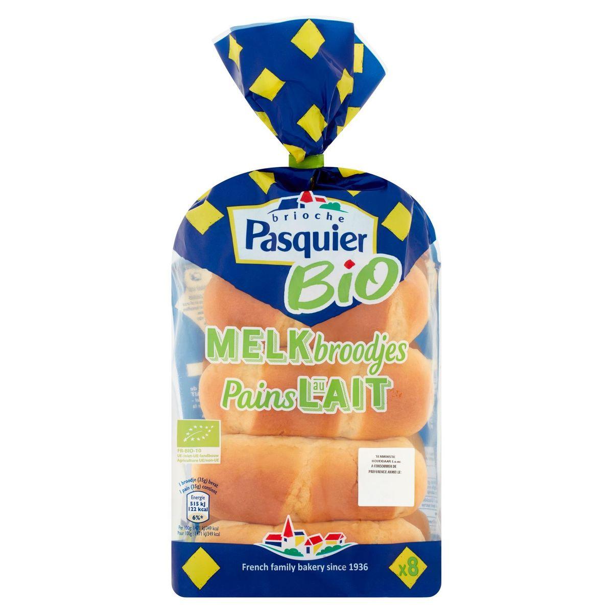 Brioche Pasquier Bio Melkbroodjes 8 x 35 g