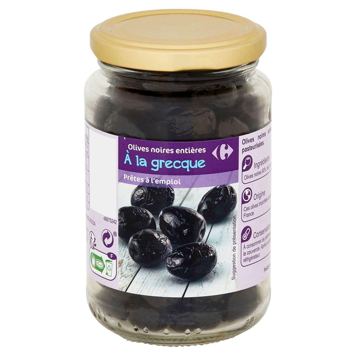 Carrefour Olives Noires Entières à la Grecque 235 g