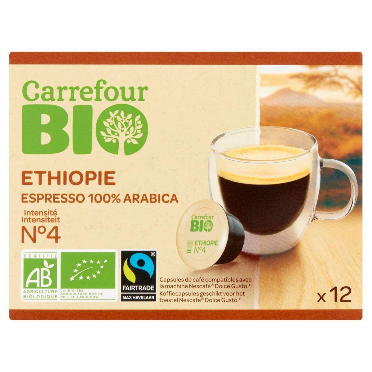 Carrefour Bio Ethiopie Espresso 100% Arabica 12 x 5.8 g