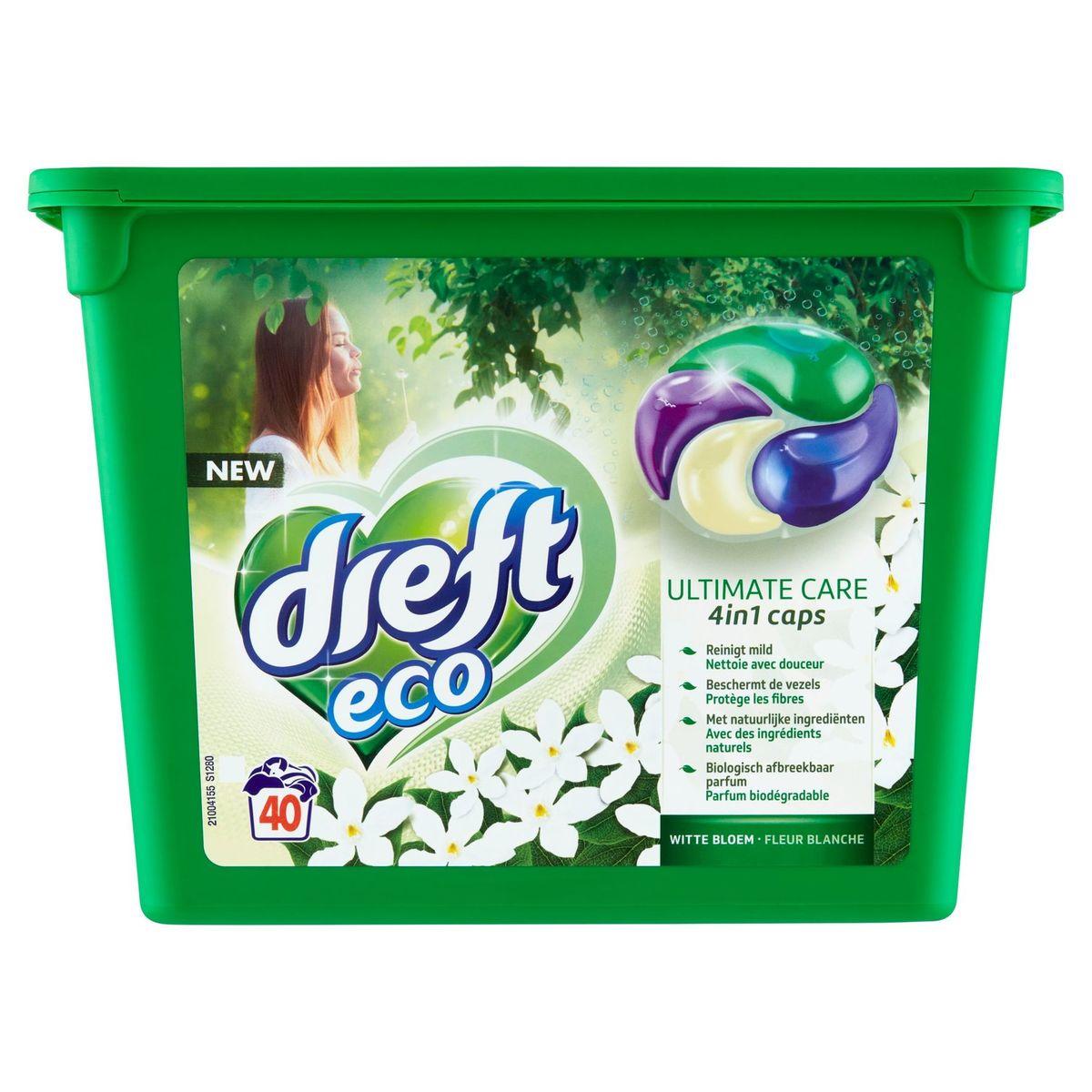 Dreft Eco Ultimate Care 4in1 Caps Witte Bloem 40 Wasbeurten 40 x 26 g