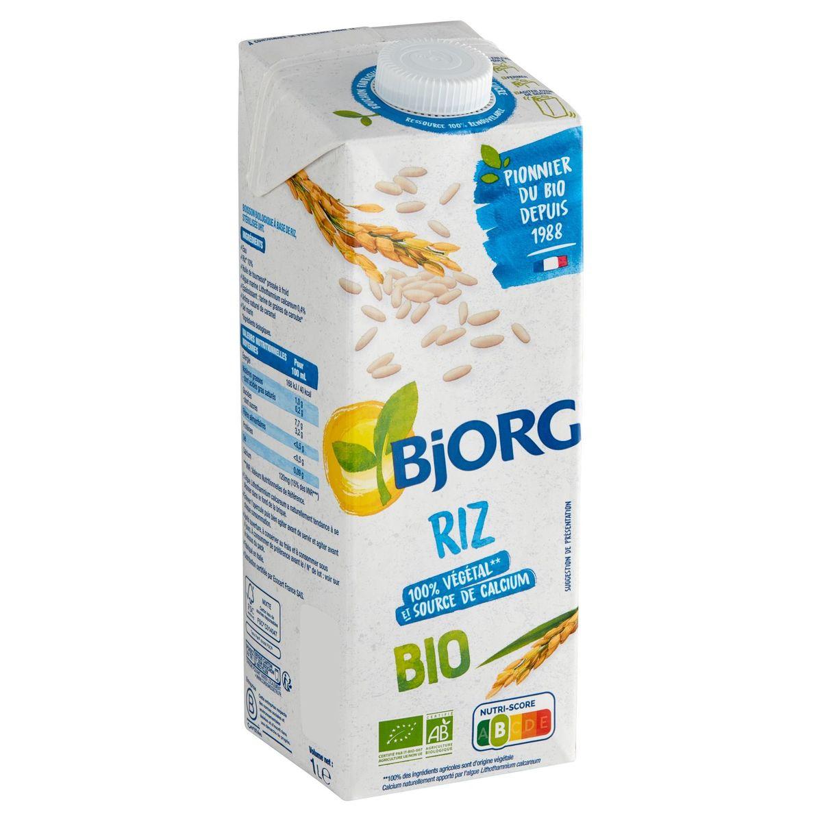 Bjorg Boisson Riz Bio Calcium 1 L