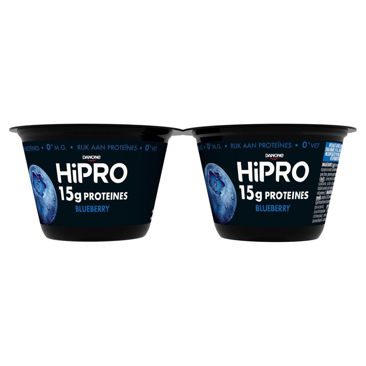 HiPRO en Pot Myrtille avec 15 g de Protéines 2 x 160 g